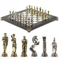 """Шахматы """"Греко-Римская война"""" 32х32 см офиокальцит мрамор"""