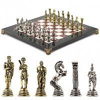 "Шахматы ""Греко-Римская война"" 32х32 см лемезит мрамор"
