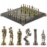 """Шахматы подарочные """"Греко-Римская война"""" 32х32 см змеевик"""