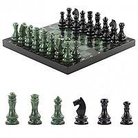 Каменные шахматы из нефрита и габродиабаза