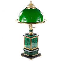 Лампа настольная из малахита
