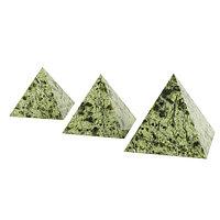 Пирамида 3х3 см камень змеевик