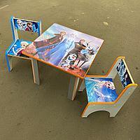 Детский стол с двумя стульчиками Холодное сердце