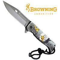 Нож складной Browning FA-47 с принтом (Орёл)