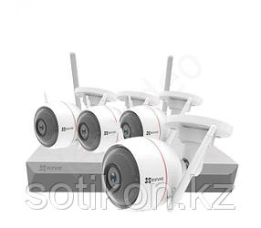 Готовый комплект видеонаблюдения на 4 камеры Ezviz ezWireLessKit (8CH) (CS-BW2824-B1E10)