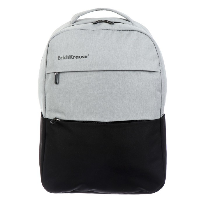 Рюкзак молодежный Erich Krause CityLine 44*30*13 17L, отд д/ноутбука, серый/чёрный 49756