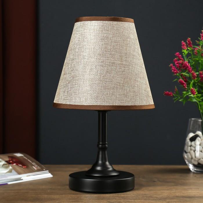 Настольная лампа 4504 1х60W E27 черный 18х32 см