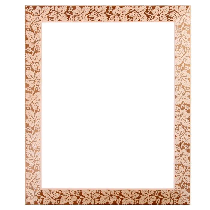 Рама для зеркал и картин, дерево, 40 х 50 х 5.0 см, липа, «Виноградная лоза», горячее тиснение