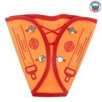 Детский адаптер ремня 'Классический', цвет оранжевый неон