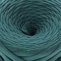 Пряжа трикотажная широкая 50м/170гр, ширина нити 7-8 мм (тенистая ель)  МИКС