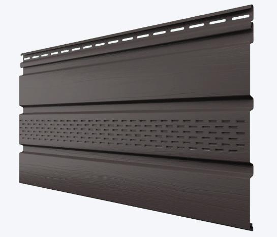 Софит виниловый Темно-Коричневый 3000X340 мм частично перфорированные Технониколь