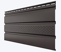 Софит виниловый Темно-Коричневый 3000X340 мм частично перфорированные Технониколь, фото 1