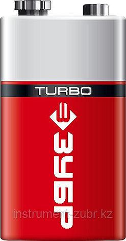 Щелочная батарейка 9 В, тип 6LR61 (крона), 1 шт, ЗУБР Turbo, фото 2