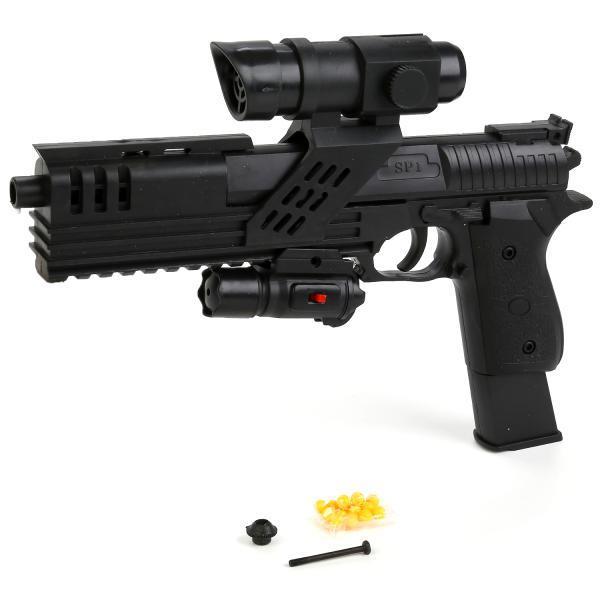 Пистолет пневматический SP1-81, с оптическим и лазерным прицелами
