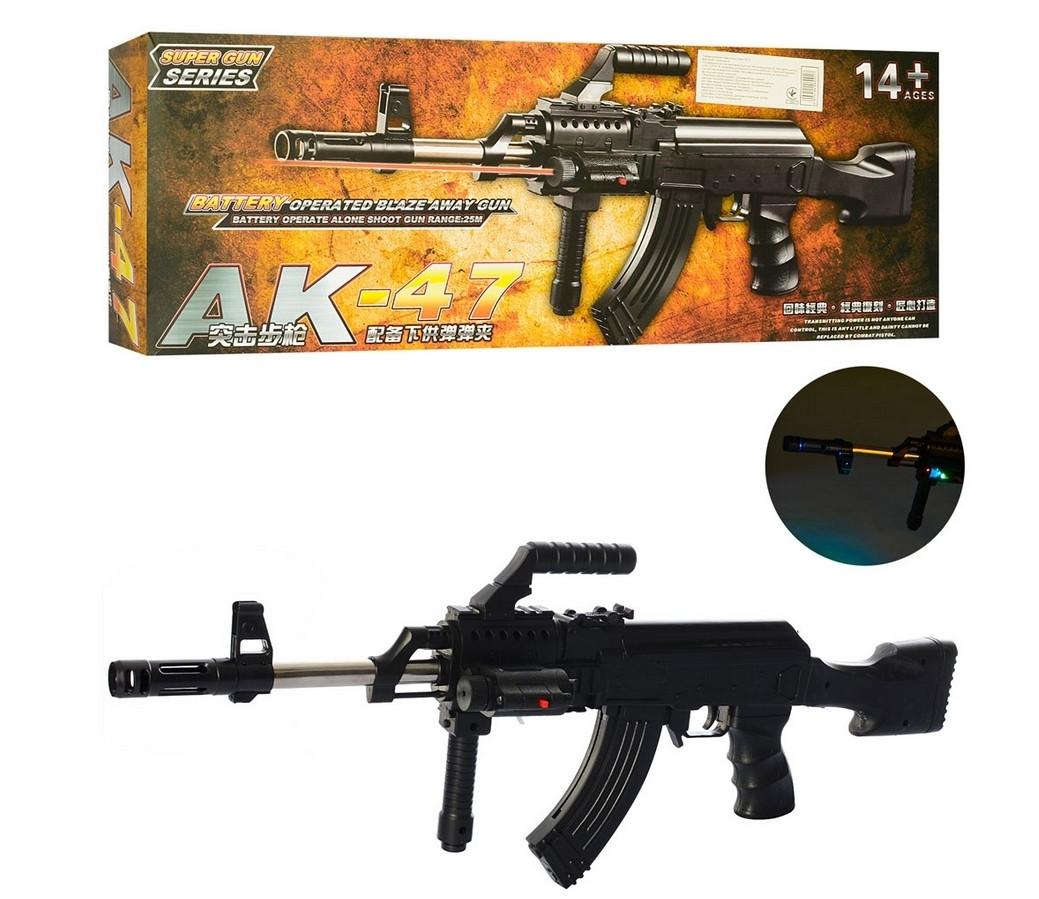 "Автомат пневматический 0807F ""АК-47"", с подставкой, со съемным прикладом"