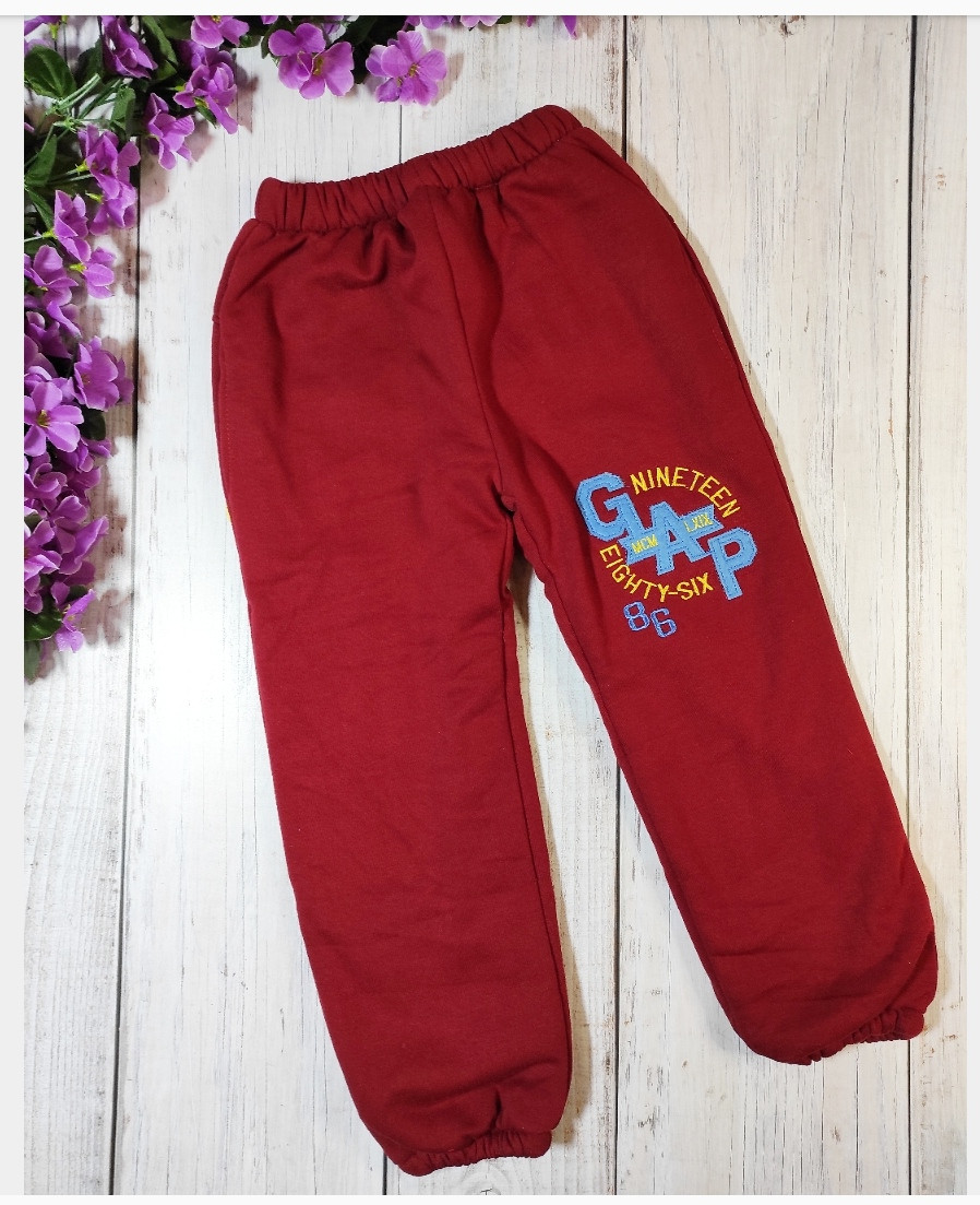 Штаны утепленные с меховушкой  цвет красный, на возраст 7-8 лет