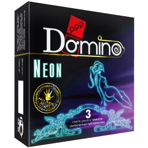 Презервативы DOMINO NEON GREEN 3 шт. (светящиеся)