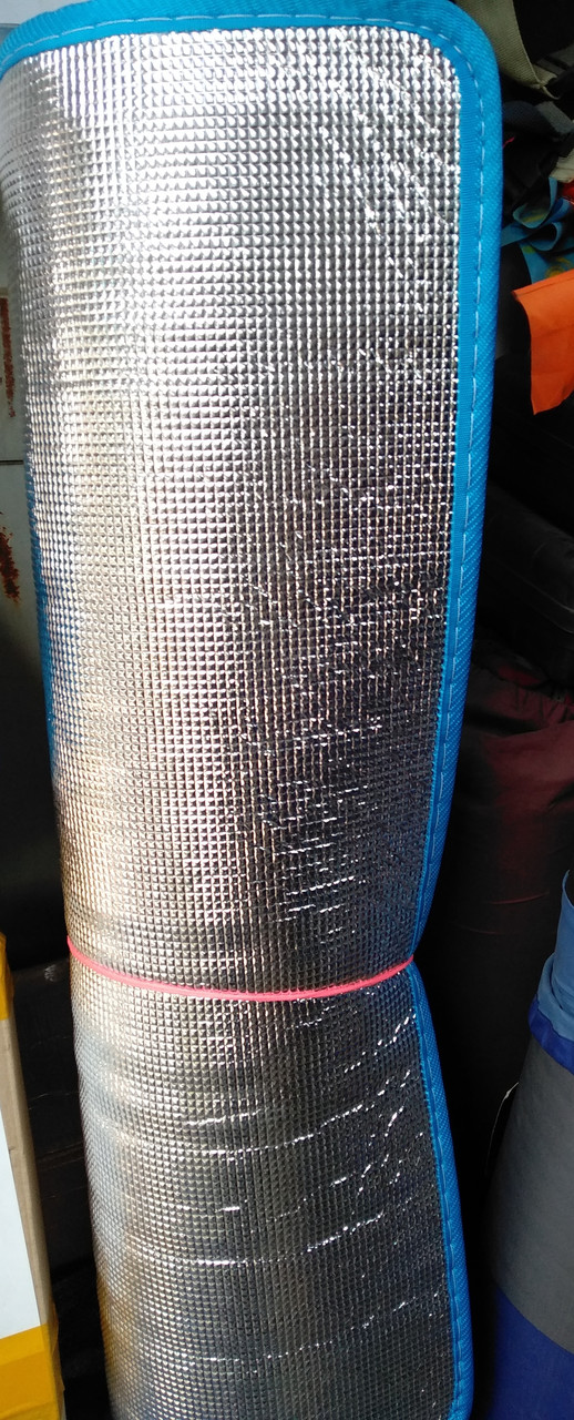 Непромокаемый каремат с фольгой 180х90х1,5 см