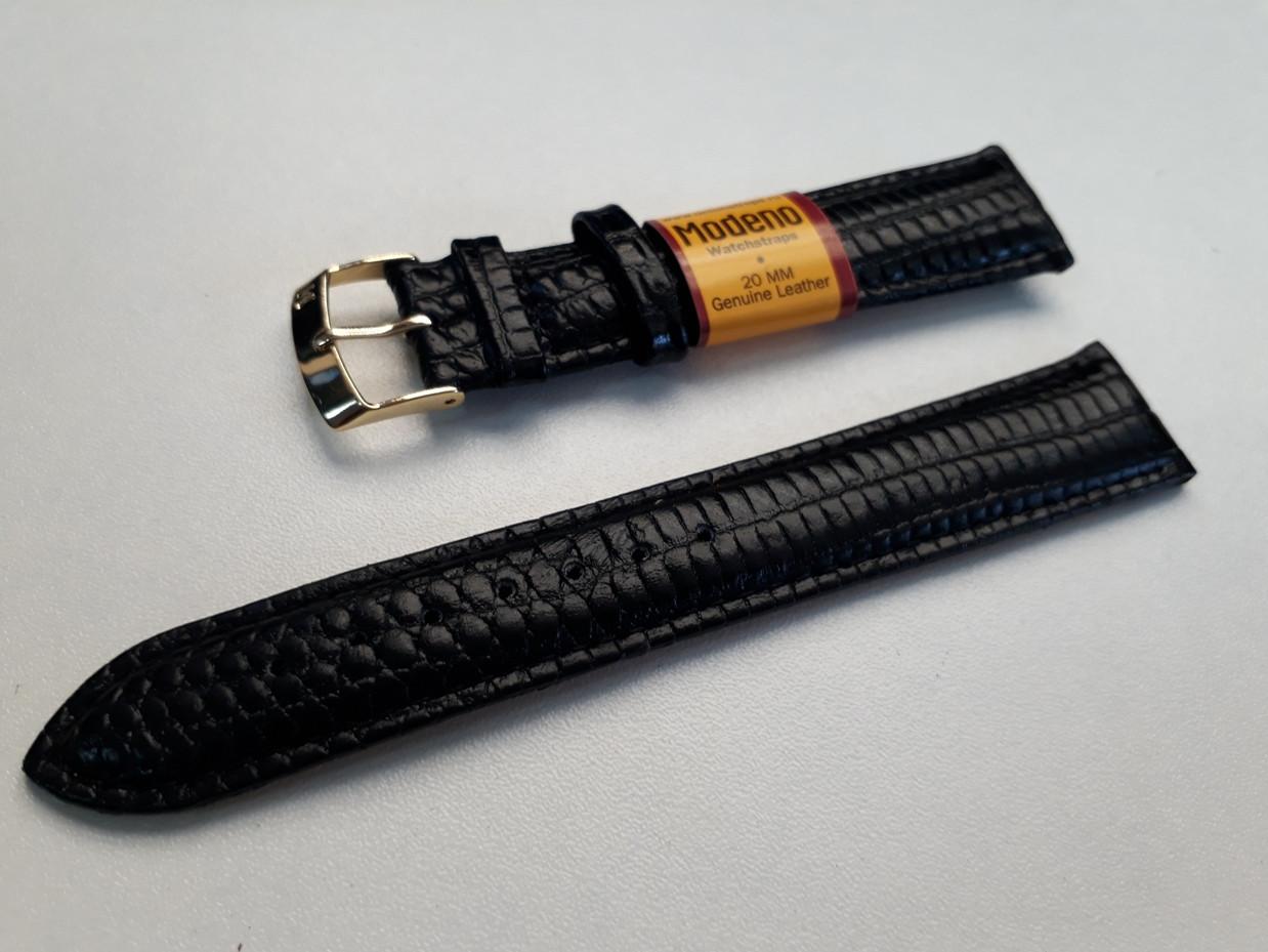 Кожаный ремешок Modeno на наручные часы. Производство Россия.