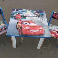 Детский стол с двумя стульчиками Тачки