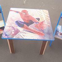 Детский стол с двумя стульчиками Человек-паук, фото 1