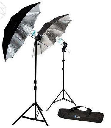 2Х зонта 82 см на отражение с патроном с лампой 40 W / 5500 К на стойках, фото 2