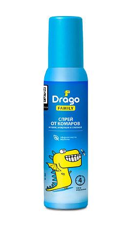 Средство репеллентное Drago FAMILY  (спрей 100мл), фото 2