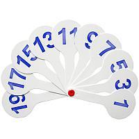 Веер школьный цифр (1-20) Спейс ВК_9394/ВК05
