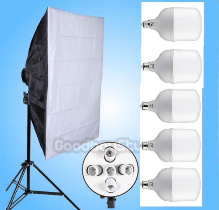 Студийный софтбокс 60×90 см с 5-ю лампами по 40W на стойке Итого 178 Ватт