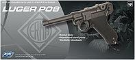 Пистолет для страйкбола ASG Luger P08, Калибр: 6,0 мм, Дульная энергия: 0,9 Дж, Ёмкость магазина (барабана): 1