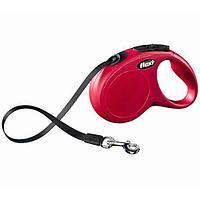 Рулетка поводок Flexi NEW Classic Compact S для собак, красный, 5 м, 15 кг