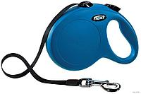 Рулетка поводок Flexi NEW Classic Compact M для собак, синий, 5 м, 25 кг