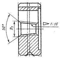 Плашка Трубная коническая R 1/16 дюйма , 28 ниток/дюйм, диаметр наружный 30мм
