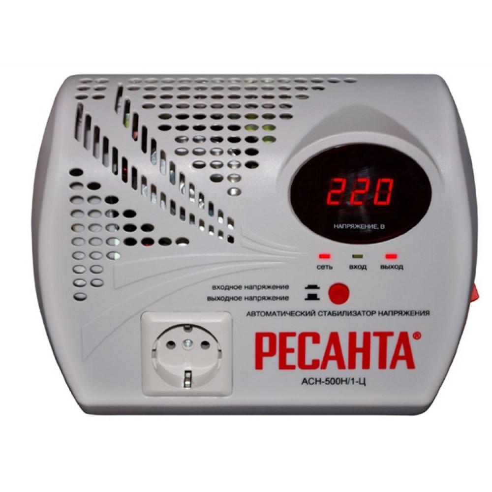 Стабилизатор напряжения электронный (Релейный) - РЕСАНТА ACH-500Н/1-Ц -500Вт - Настенный
