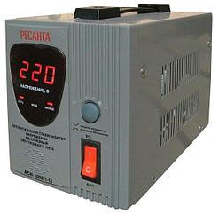 Стабилизатор напряжения электронный (Релейный)  - РЕСАНТА ACH-1000/1-Ц-1 кВт