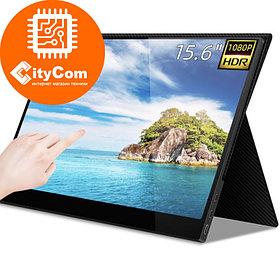 "Портативный сенсорный монитор 15.6"" TouchScreen monitor TVS T156W-1, 1920x1080, 1xmini HDMI, 2xUSB type-C, 1xM"
