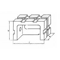 Опора прямоугольная 45х 30х 60 облегченная передвижная под паз 8мм (ДСПМ2-07) (б/у)