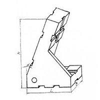 Опора угловая 45х30х65 25 градусов усов правая, под паз 8мм (ДСПМ2-34) (б/у)