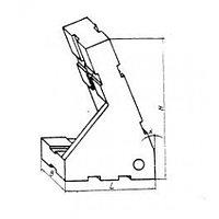 Опора угловая 45х30х67 20 градусов усов левая, под паз 8мм (ДСПМ2-33) (б/у)