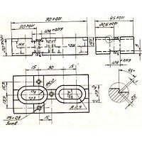 Опора Прямоугольная 60х 45х 20 крепежная под паз 12мм (ДСП-20) (восстановленный )