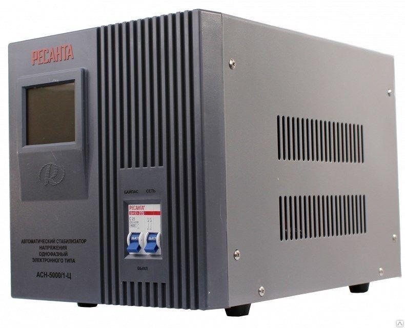 Стабилизатор напряжения электронный (Релейный)  -РЕСАНТА ACH-5000/1-Ц 5 кВт