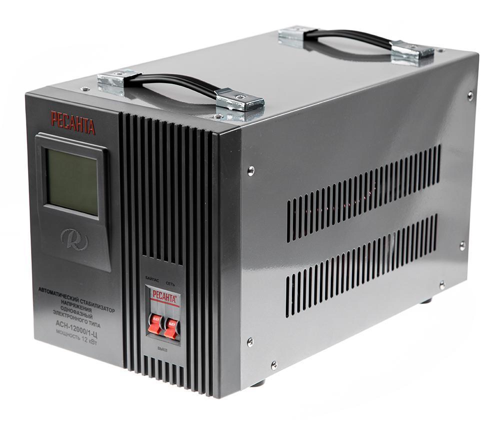 Стабилизатор напряжения электронный (Релейный)  -РЕСАНТА ACH-12000/1-Ц 12 кВт