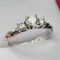 Дизайнерская модель, Золотое кольцо с бриллиантом 0,50Сt SI2/J, фото 1