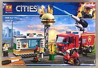 Конструктор Lari 11213 Пожар в бургер-кафе