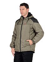 """Куртка """"Спринтер"""" мужская, оливковая с чёрным"""