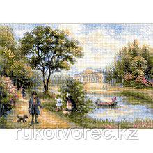 Набор для вышивания Riolis 'Прогулка в парке', 38*26 см