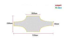 Учебные сетки-мишени для футбольных ворот (габариты: 720*230 см)