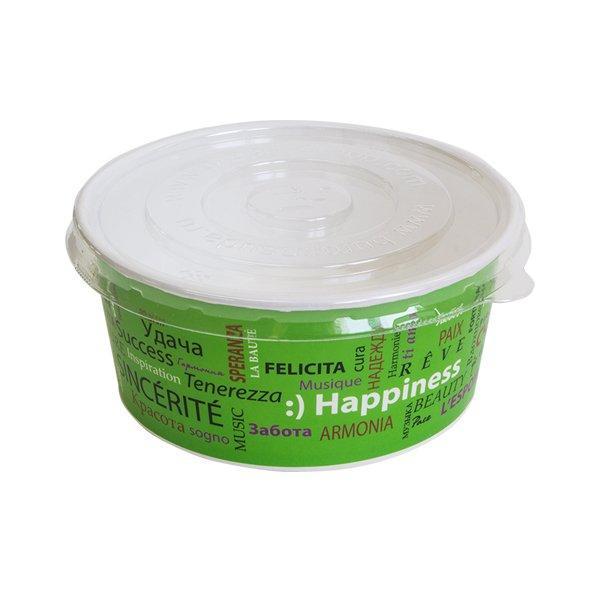 Крышка для салатника плоская, кругл., d 150мм, прозрачн., BOPS, 500 шт