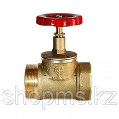 Клапан пожарного крана 15Б3Р Ду50 прямой муфта/цапка (латунь)