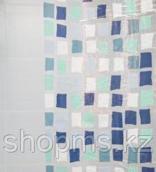 Штора для ванной S-C016 (зел.мозаика)